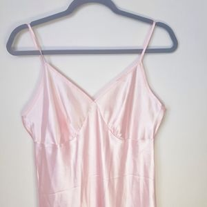 Vintage Pink Slip Nightgown with Cape Peignoir